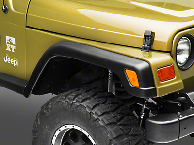 Omix-ADA Factory Style Rep. 6 pc. Fender Flare Kit w/ 2 Front Extensions (97-06 Wrangler TJ)