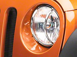 Rugged Ridge Euro Headlight Guards; Stainless Steel (07-18 Jeep Wrangler JK)