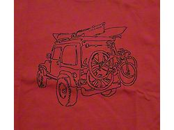 Life is Good Men's Off-Road Fun Crusher T-Shirt; Faded Red