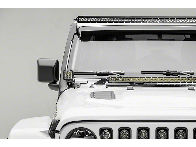 ZRoadz 50-Inch LED Light Bar and Two 3-Inch LED Pod Lights with Roof Mounting Brackets (18-21 Jeep Wrangler JL)