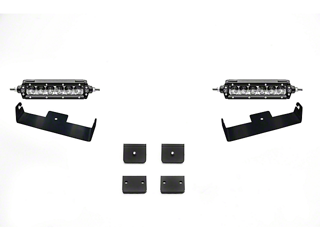 ZRoadz Universal Panel Clamp LED Kit with 6-Inch LED Light Bars (Universal; Some Adaptation May Be Required)