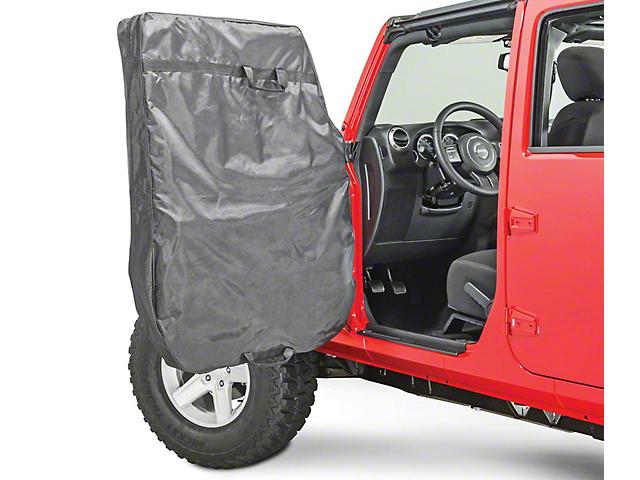 MasterTop Hard Door Storage Bag; Black Diamond (76-21 Jeep CJ5, CJ7, Wrangler YJ, TJ, JK & JL)