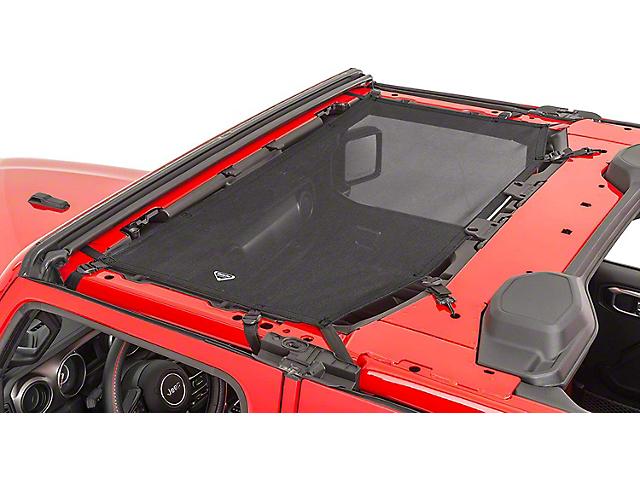 MasterTop ShadeMaker Freedom Mesh Bimini Top; Black (18-21 Jeep Wrangler JL)