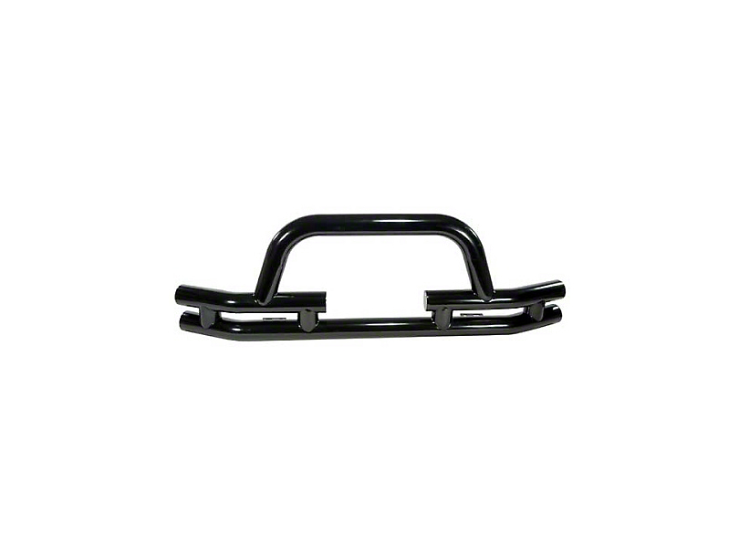 Rugged Ridge 3-Inch Double Tube Winch Ready Front Bumper; Black (87-06 Jeep Wrangler YJ & TJ)