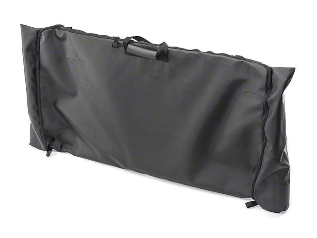 MasterTop Soft Top Rear Window Storage Bag; Black Diamond (18-21 Jeep Wrangler JL)