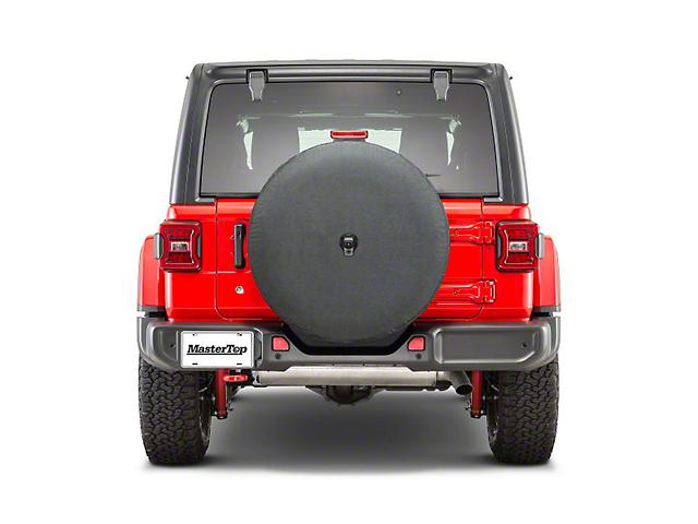 MasterTop Spare Tire Cover for 285/70R17; Black (18-21 Jeep Wrangler JL)