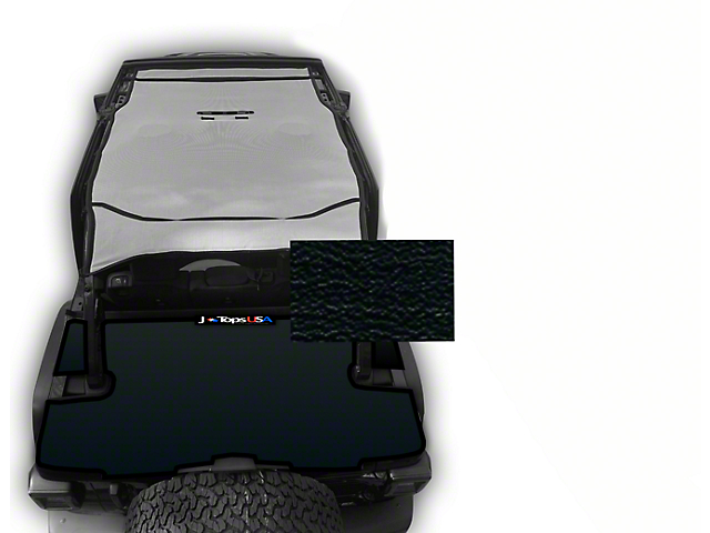 JTopsUSA Tonneau Cover; Black (18-21 Jeep Wrangler JL 4-Door)