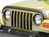 Rugged Ridge Textured Black Plastic Hood Stone Guard (97-06 Jeep Wrangler TJ)