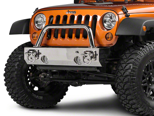 Rugged Ridge XHD Front Bumper Over-Rider Hoop; Stainless Steel (87-18 Jeep Wrangler YJ, TJ & JK)