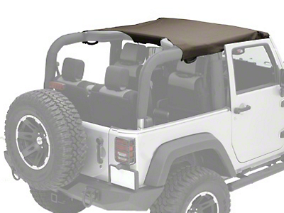 Rugged Ridge Pocket Summer Brief Top - Khaki Diamond (07-09 Wrangler JK 2 Door)
