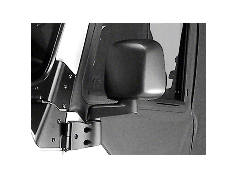 Rugged Ridge Left Side Black Non Folding Mirror (87-06 Jeep Wrangler YJ & TJ)