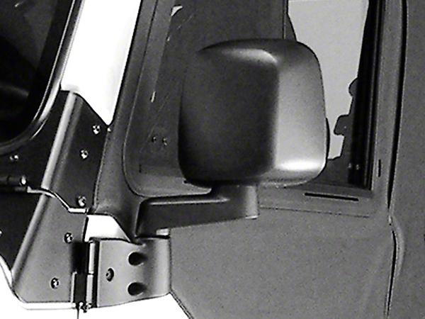 Rugged Ridge Left Side Black Non Folding Mirror (87-06 Wrangler YJ & TJ)