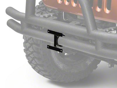 Rugged Ridge License Plate Bracket For 3 in. Tube Bumpers (87-19 Jeep Wrangler YJ, TJ, JK & JL)