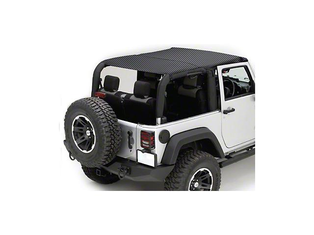 Rugged Ridge Mesh Summer Island Topper - Black (07-09 Jeep Wrangler JK 4 Door)