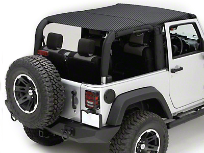 Rugged Ridge Mesh Summer Island Topper - Black (07-09 Jeep Wrangler JK 4 Door)