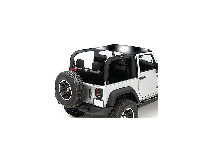 Rugged Ridge Mesh Summer Brief Top; Black (07-09 Jeep Wrangler JK 2 Door)