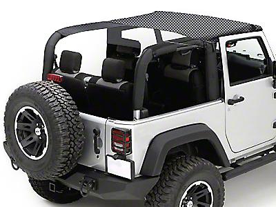 Rugged Ridge Mesh Summer Brief Top - Black (07-09 Jeep Wrangler JK 2 Door)