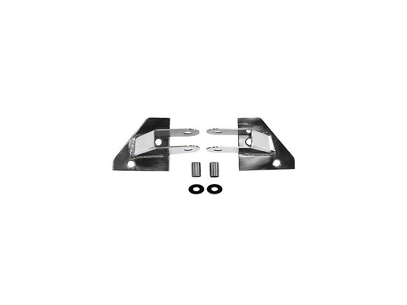 Rugged Ridge Mirror Relocation Brackets - Stainless Steel (87-95 Jeep Wrangler YJ)