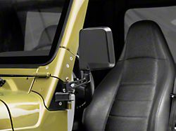 Rugged Ridge Mirror Relocation Brackets; Black (97-02 Jeep Wrangler TJ)