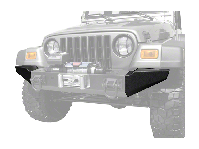 Rugged Ridge Modular XHD Front Bumper End Sections - Textured Black (87-06 Jeep Wrangler YJ & TJ)