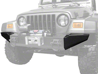 Rugged Ridge Modular XHD Front Bumper End Sections - Textured Black (87-06 Wrangler YJ & TJ)