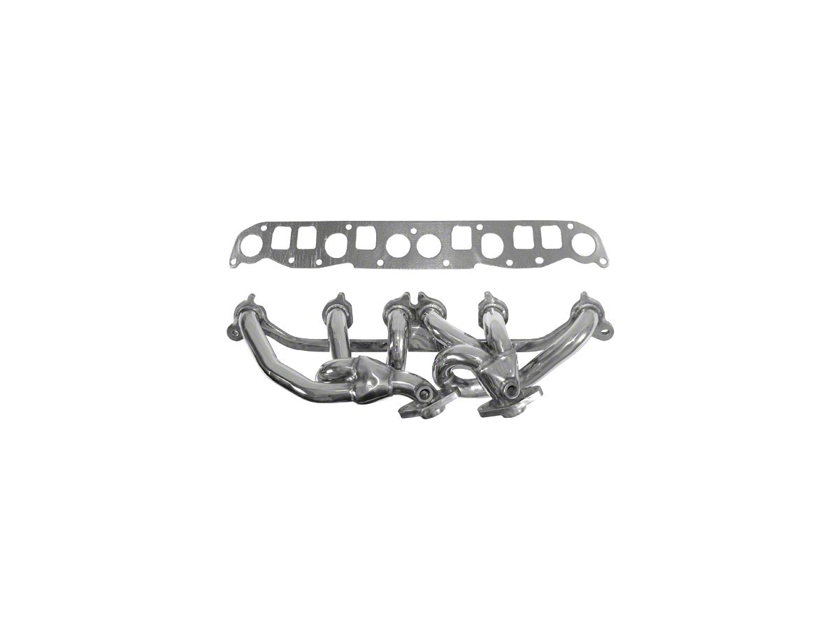 Rugged Ridge Stainless Steel Exhaust Header Polished 00 06 4 0l Jeep Wrangler Tj