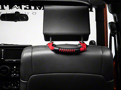 Rugged Ridge Rear Side Grab Handles - Red (07-18 Jeep Wrangler JK 4 Door)