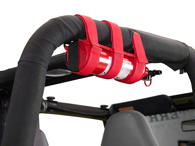 Rugged Ridge Red Sport Bar Fire Extinguisher Holder
