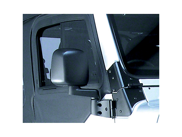 Rugged Ridge Right Side Black Non Folding Mirror (87-06 Jeep Wrangler YJ & TJ)