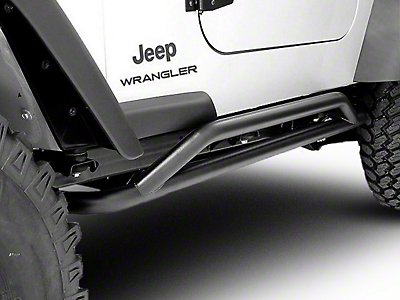 Rugged Ridge Rock Crawler Rock Sliders - Textured Black (87-06 Wrangler YJ & TJ)