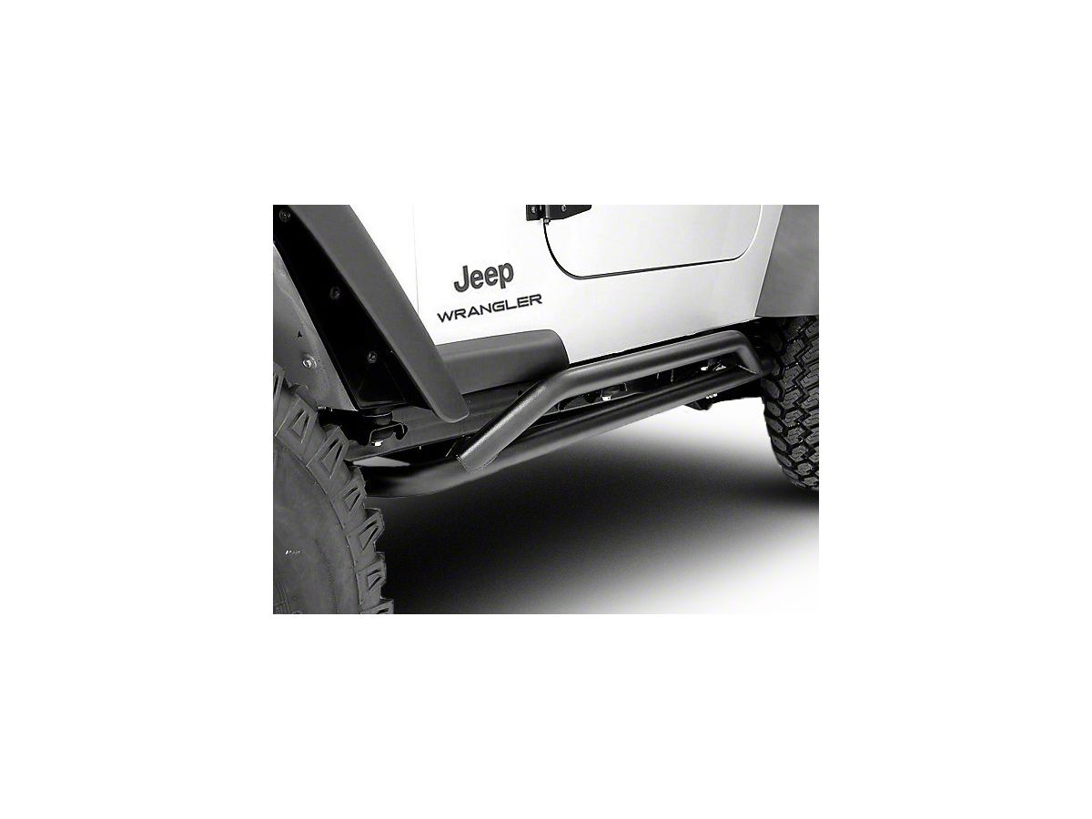 Rugged Ridge Rock Crawler Sliders Textured Black 87 06 Jeep Wrangler Yj Tj Excluding Unlimited