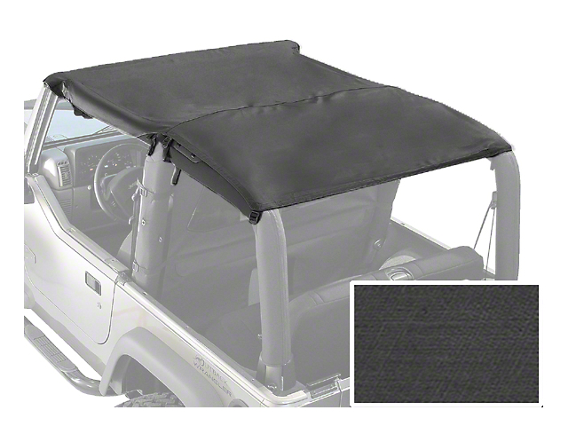 Rugged Ridge Roll Bar Top - Black Denim (87-91 Jeep Wrangler YJ)