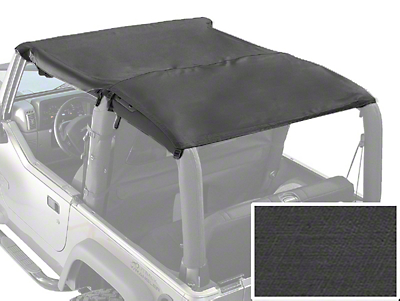 Rugged Ridge Roll Bar Top - Black Denim (87-91 Wrangler YJ)