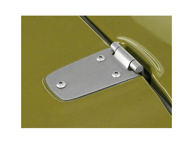 Rugged Ridge Hood Hinges; Stainless Steel (98-06 Jeep Wrangler TJ)