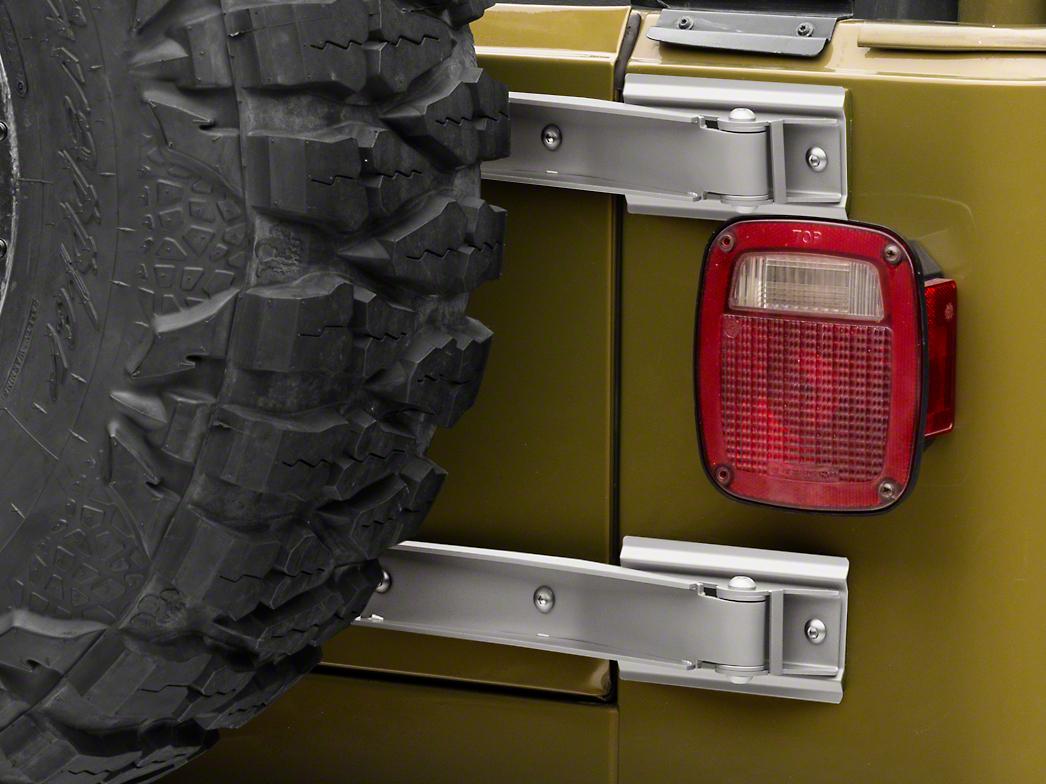 Rugged Ridge Tailgate Hinge - Satin Stainless Steel - Pair (97-02 Jeep Wrangler TJ)