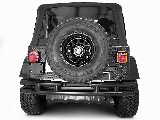Rugged Ridge Tubular Rear Bumper w/o Hitch - Gloss Black (87-06 Jeep Wrangler YJ & TJ)