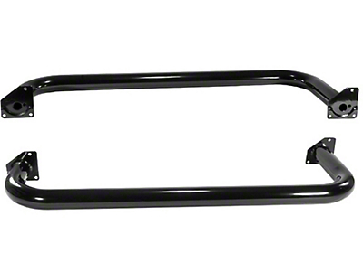 Rugged Ridge Side Step Bars - Gloss Black (87-95 Wrangler YJ)