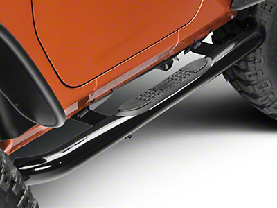 Rugged Ridge Side Step Bars - Gloss Black (07-18 Jeep Wrangler JK 2 Door)