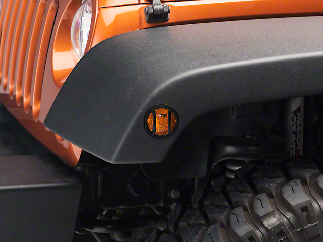 Rugged Ridge Euro Side Marker Light Guards - Black (07-18 Jeep Wrangler JK)