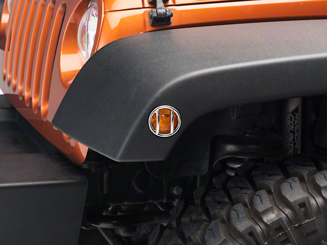 Rugged Ridge Side Marker Light Guards - Stainless Steel (07-18 Wrangler JK)