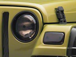 Rugged Ridge Headlight and Turn Signal Light Covers; Smoked (97-06 Jeep Wrangler TJ)