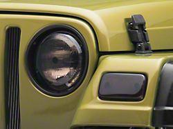 Rugged Ridge Headlight and Turn Signal Light Covers - Smoked (97-06 Jeep Wrangler TJ)
