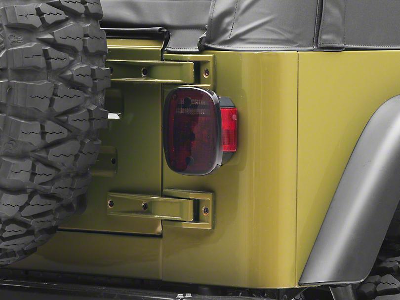 Rugged Ridge Plastic Molded Taillight Covers - Smoke (87-06 Jeep Wrangler YJ & TJ)