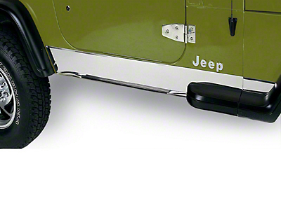Rugged Ridge Stainless Rocker Panel (87-95 Wrangler YJ)