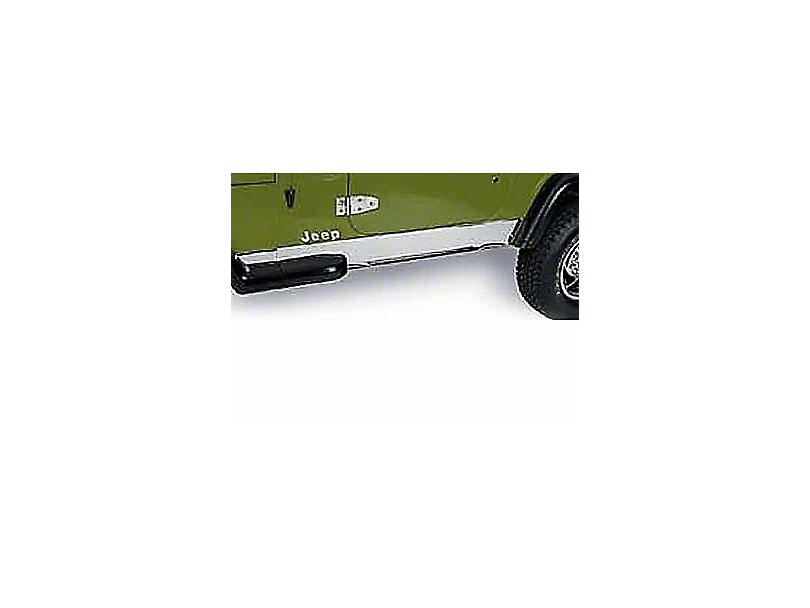Rugged Ridge Stainless Rocker Panel (97-06 Jeep Wrangler TJ, Excluding Unlimited)