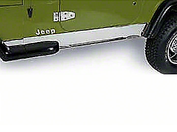 Rugged Ridge Stainless Rocker Panel (97-06 Wrangler TJ)