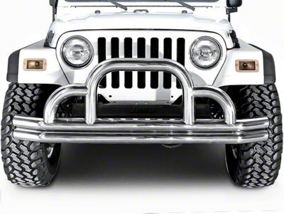Add Rugged Ridge Tubular Front Bumper (87-06 Wrangler YJ & TJ)