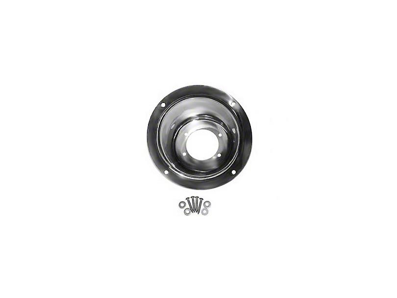 Rugged Ridge Fuel Filler Bezel; Stainless Steel (97-06 Jeep Wrangler TJ)