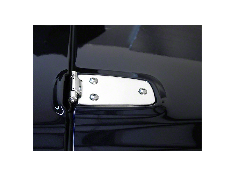 Rugged Ridge Hood Hinges - Stainless Steel (97-06 Jeep Wrangler TJ)