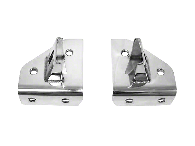 Rugged Ridge Windshield Light Mounting Brackets - Stainless Steel (87-95 Jeep Wrangler YJ)